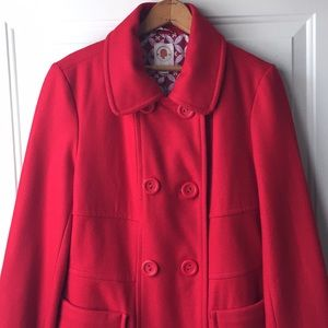 Excellent condition Red Tulle Peacoat